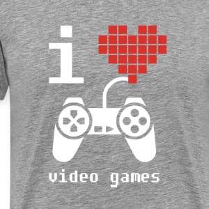 I Love Video Games Gamer T Shirt T-Shirts - Men's Premium T-Shirt