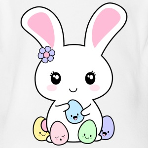 Kawaii Easter Bunny Baby Bodysuits - Short Sleeve Baby Bodysuit
