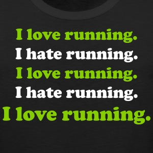 I love running I hate running Sportswear - Men's Premium Tank