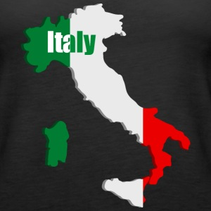 Italy map Tanks - Women's Premium Tank Top