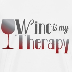 Wine is my Therapy - Men's Premium T-Shirt