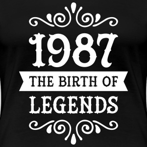 1987 - The Birth Of Legends Women's T-Shirts - Women's Premium T-Shirt