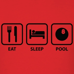 Eat Sleep Pool - Men's T-Shirt