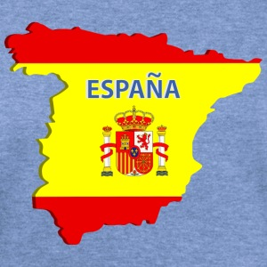 Spain map Long Sleeve Shirts - Women's Wideneck Sweatshirt