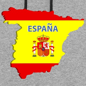 Spain map Hoodies - Colorblock Hoodie