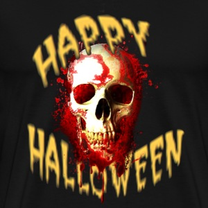 Happy Halloween Bloody Skull T-Shirts - Men's Premium T-Shirt