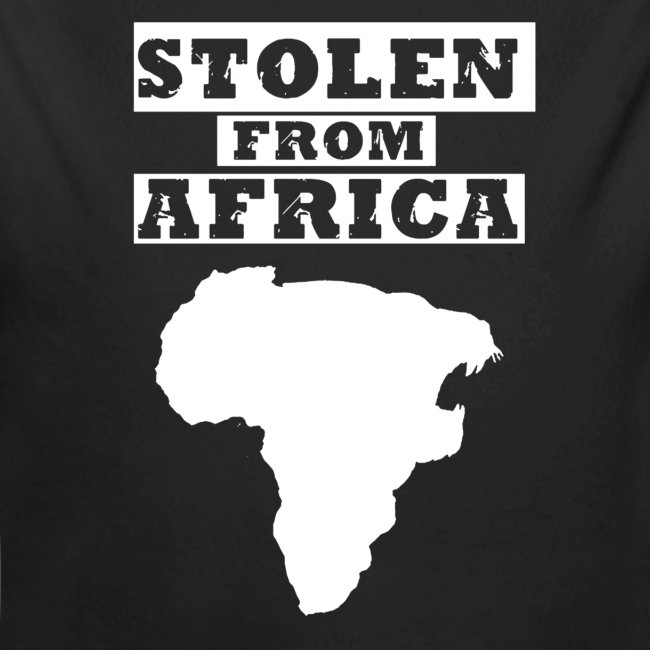Stolen From Africa Baby Long Sleeve One Piece (White Logo)