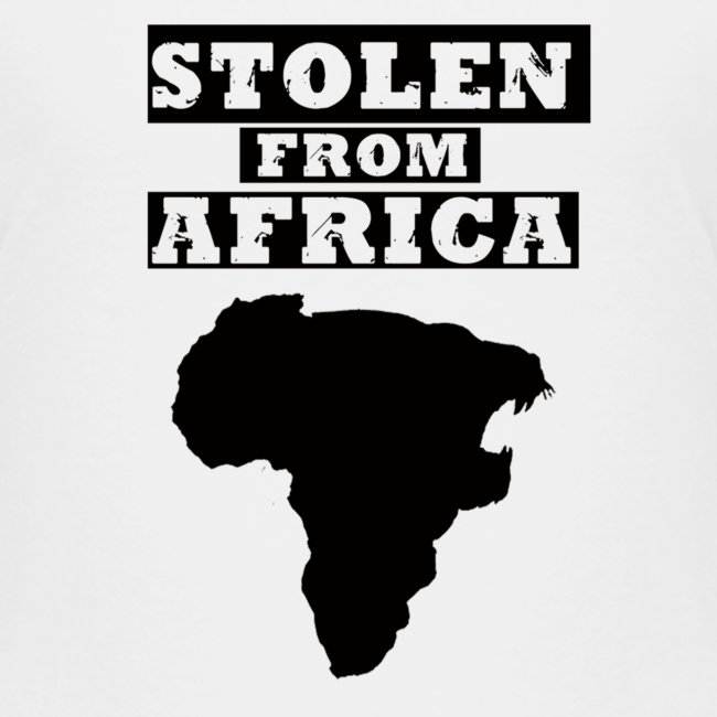 Stolen From Africa Toddler Premium T-Shirt (Black Logo)