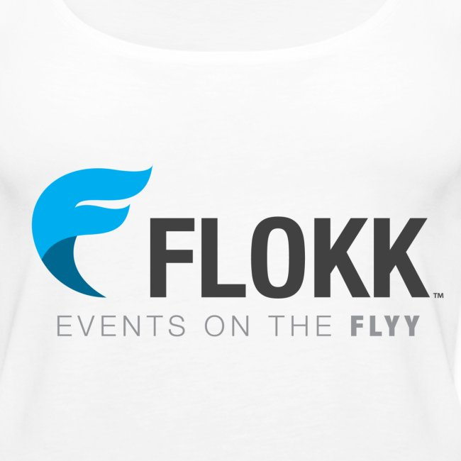 Women's White Flokk Premium Tank