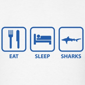Eat Sleep Sharks - Men's T-Shirt