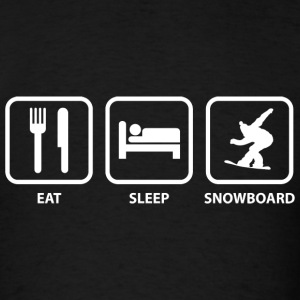 Eat Sleep Snowboard - Men's T-Shirt