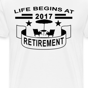 life_begins_at_2017_retirement - Men's Premium T-Shirt