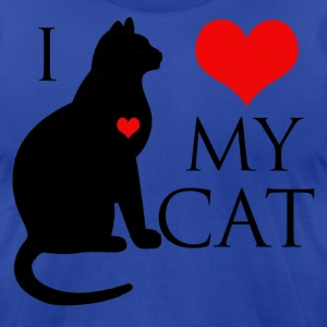 I Love My Cat T-Shirts - Men's T-Shirt by American Apparel