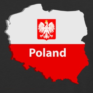 Poland map T-Shirts - Baseball T-Shirt