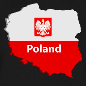 Poland map T-Shirts - Men's V-Neck T-Shirt by Canvas