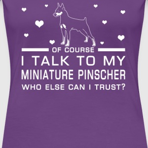 Miniature Pinscher - Women's Premium T-Shirt