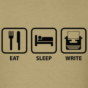 Eat Sleep Write - Men's T-Shirt