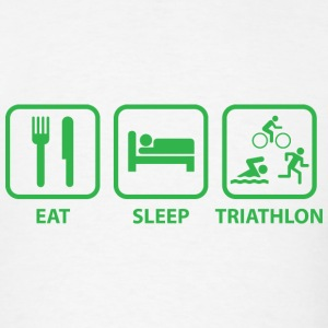 Eat Sleep Triathlon - Men's T-Shirt
