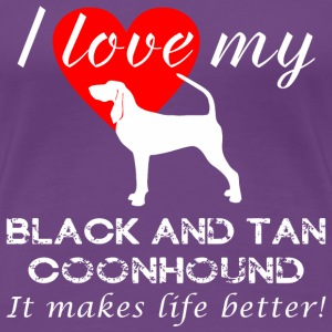 Black and Tan Coonhound - Women's Premium T-Shirt