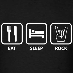 Eat Sleep Rock - Men's T-Shirt