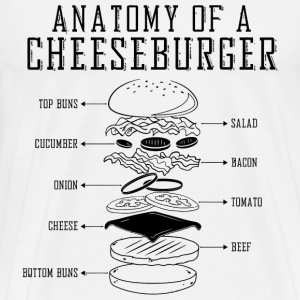 Anatomy of cheese burger - Men's Premium T-Shirt
