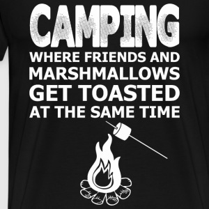Camping...Where Friends And Marshmallows Get Toa - Men's Premium T-Shirt