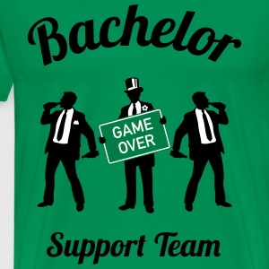 Bachelor Game Over Support Team (Stag Party / 3C) T-Shirts - Men's Premium T-Shirt