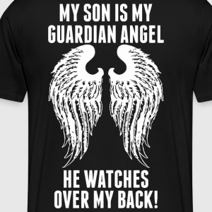My Son Is My Guardian Angel He Watches Over My B - Men's Premium T-Shirt