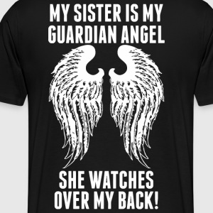 My Sister Is My Guardian Angel She Watches Over - Men's Premium T-Shirt