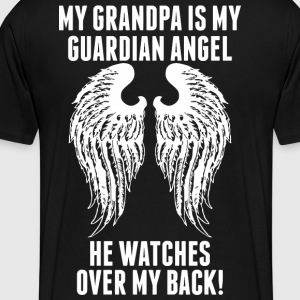 My Grandpa Is My Guardian Angel He Watches Over - Men's Premium T-Shirt
