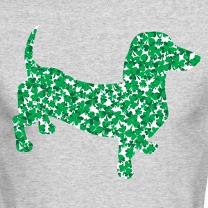 Shamrock Dachshund - Men's Long Sleeve T-Shirt by Next Level