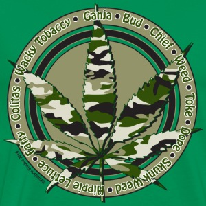 Camo Cannabis - Men's Premium T-Shirt