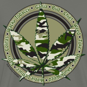 Camouflage Cannabis Leaf - Men's Premium T-Shirt