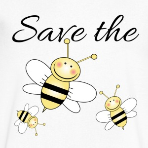 Save The Bees T-Shirts - Men's V-Neck T-Shirt by Canvas