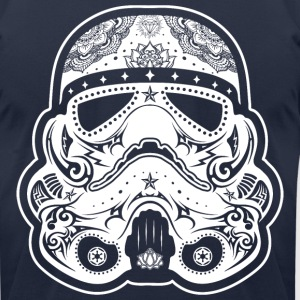 Storm Trooper Sugar Skull T-Shirts - Men's T-Shirt by American Apparel