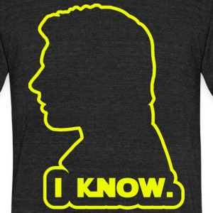 Han Solo - I Know. Design T-Shirts - Unisex Tri-Blend T-Shirt by American Apparel
