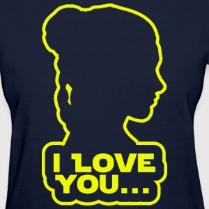 I love you, Princess Leia Women's T-Shirts - Women's T-Shirt