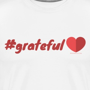 Hashtag Grateful Heart - Men's Premium T-Shirt