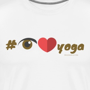 Hashtag I Love Yoga - Men's Premium T-Shirt