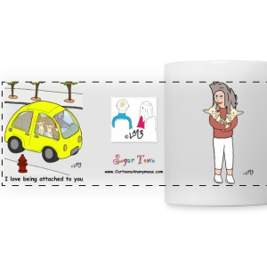 Tina Loves her Pups. She also Loves to Drive Mugs & Drinkware - Panoramic Mug