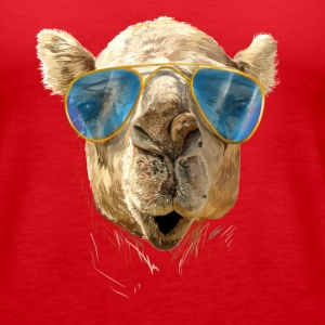 Camel with sunglasses Tanks - Women's Premium Tank Top