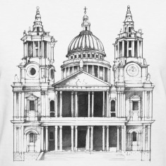 Cathedral sketch (St Pauls) Women's T-Shirts