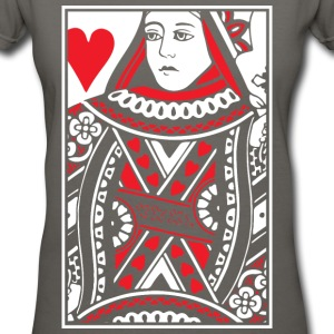 Queen of Hearts Women's T-Shirts - Women's V-Neck T-Shirt