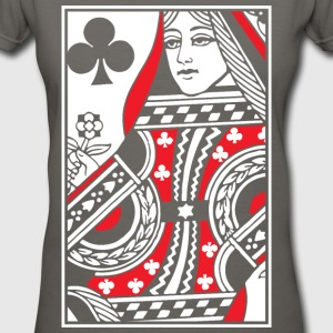 Queen of Clubs Women's T-Shirts - Women's V-Neck T-Shirt