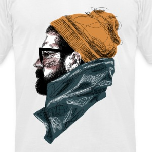 Bearded Guy 1 - Men's T-Shirt by American Apparel