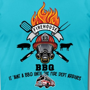 Firehouse BBQ - Men's T-Shirt by American Apparel