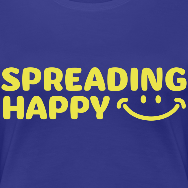 Women's Spreading Happy Blue T-Shirt