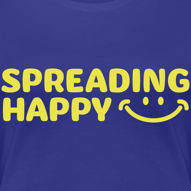 Women's Spreading Happy Blue T-Shirt