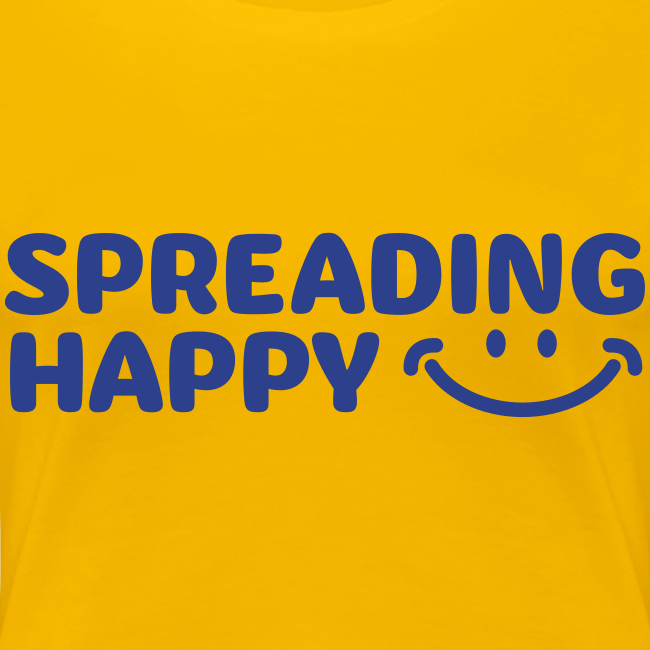 Women's Spreading Happy Yellow T-Shirt