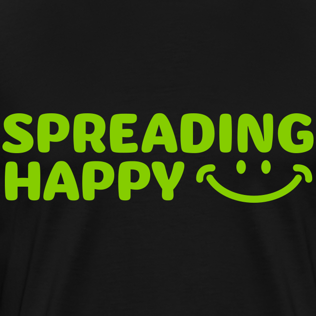 Men's Spreading Happy Black T-Shirt